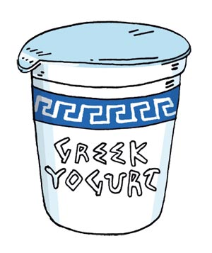 Greek yogurt clipart.