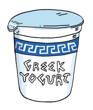 Greek yogurt clipart.
