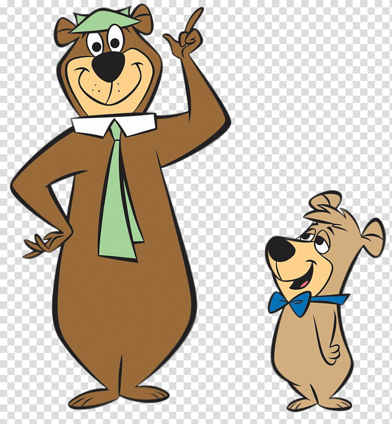 Yogi Bear and Boo Boo transparent background PNG clipart.