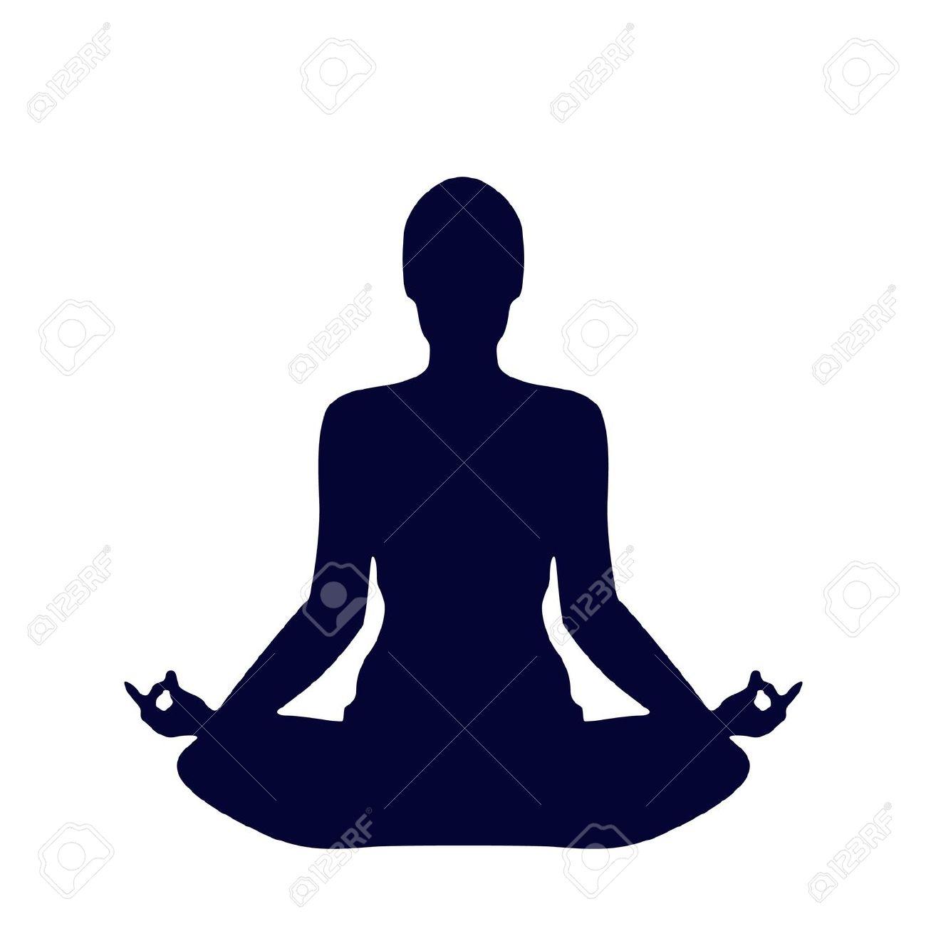 744 Meditation free clipart.