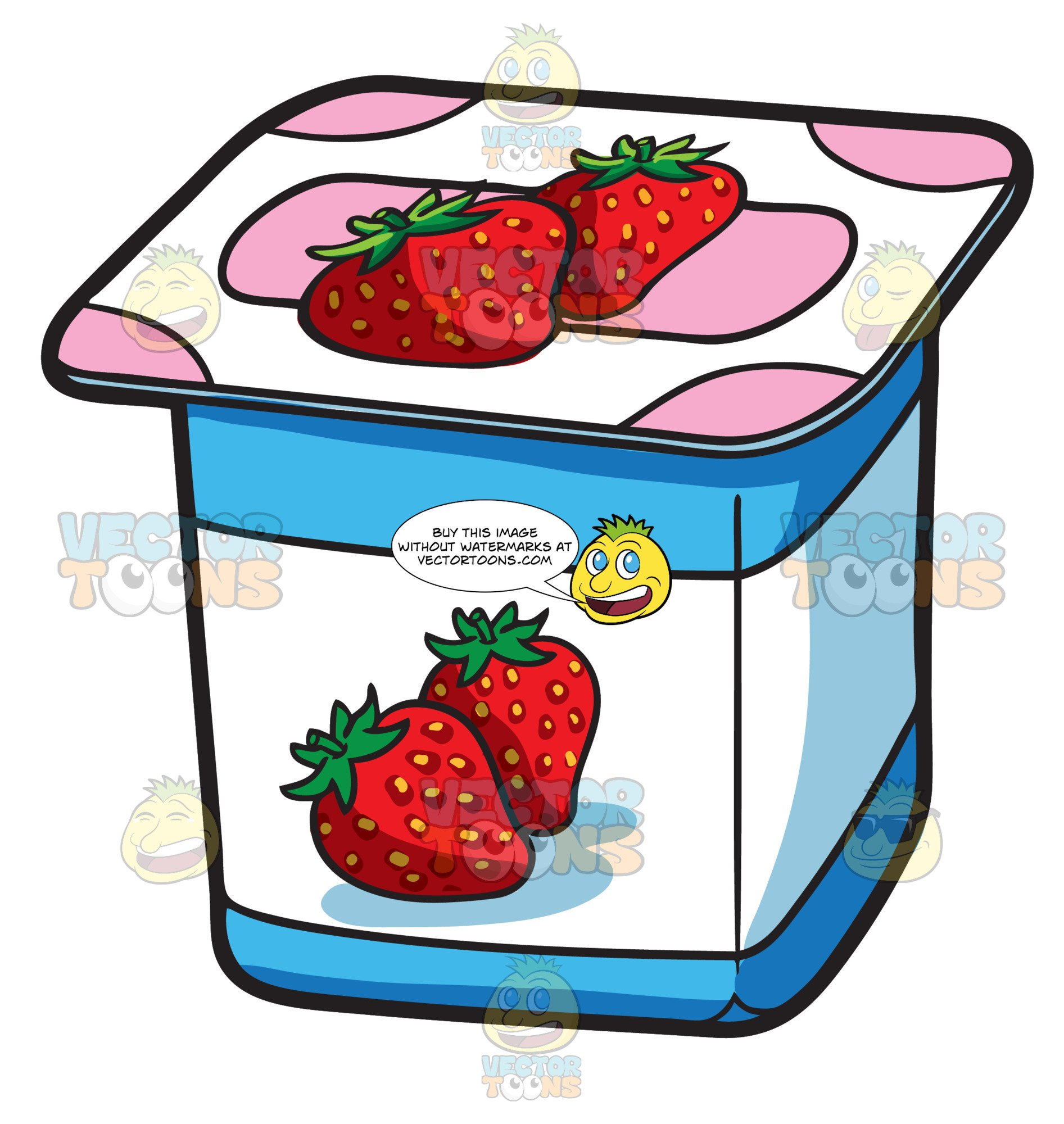 A One Serving Strawberry Yogurt For Sale.