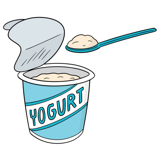 Best Plain Yogurt Illustrations, Royalty.