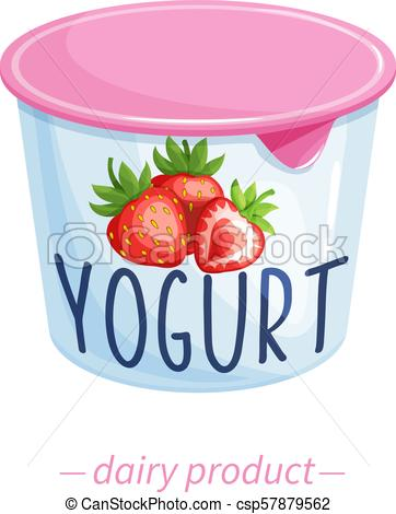 Vector yogurt.