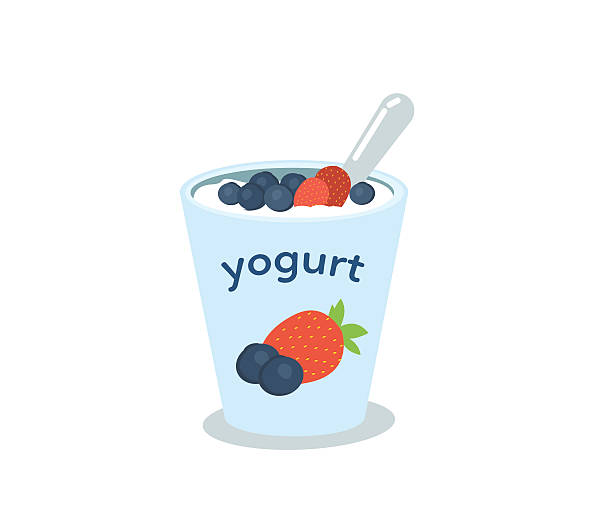 Best Yogurt Cup Illustrations, Royalty.