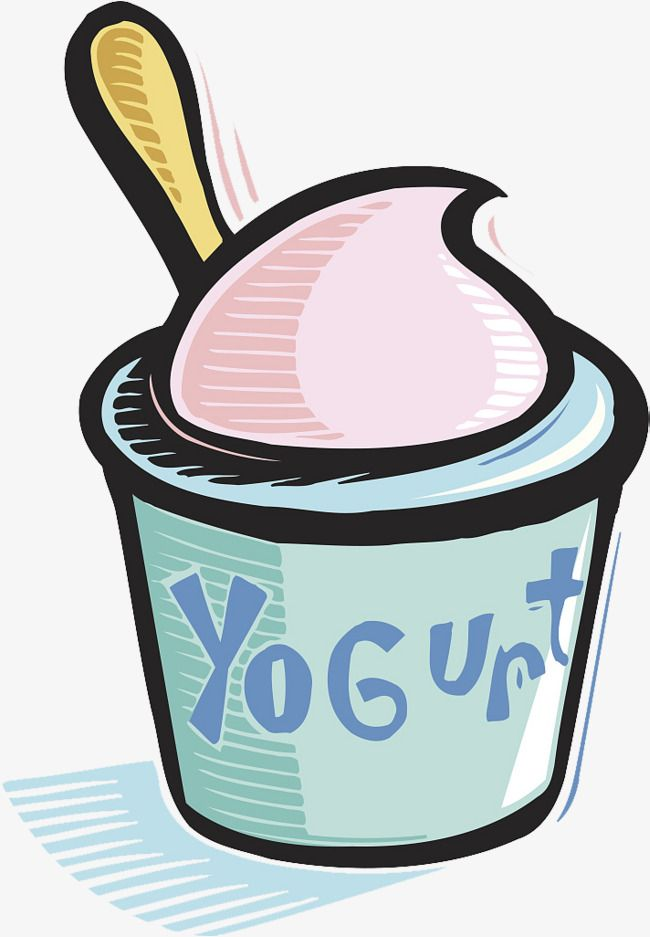 A Cup Of Yogurt, Cup Clipart, Spoon, Yogurt Vector PNG Transparent.