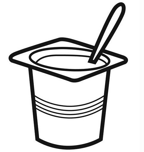 Free coloring pages of frozen yogurt clipart image.