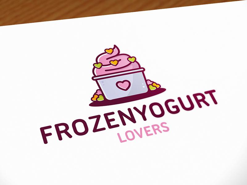 Frozen Yogurt Logo Template by Alberto Bernabe on Dribbble.
