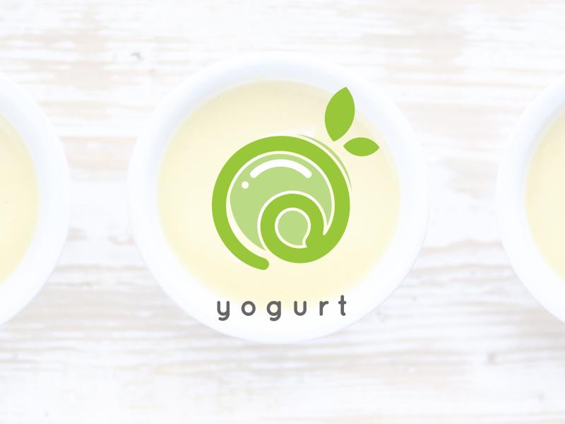Yogurt logo by Yoga Ekatama on Dribbble.