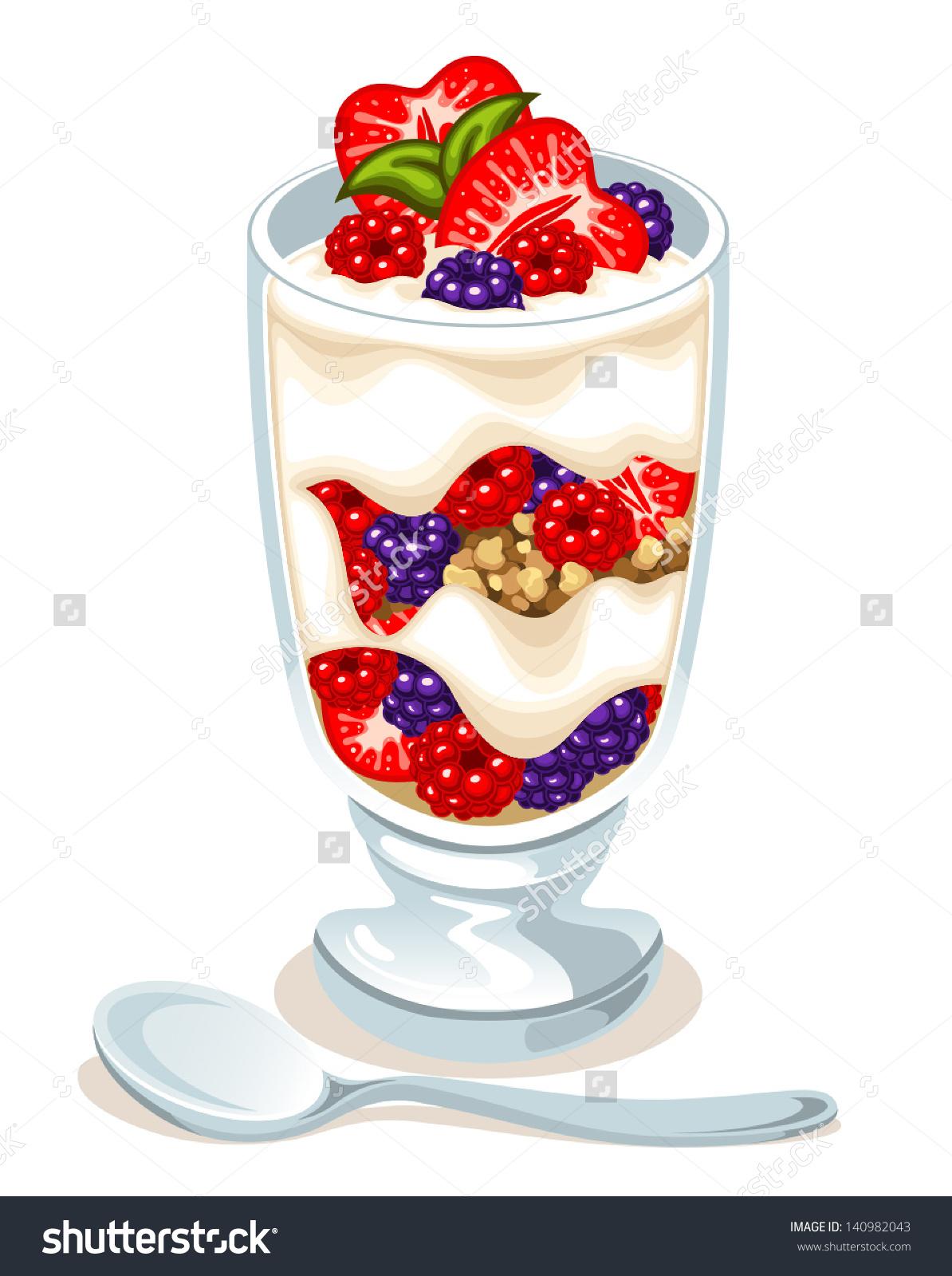 Vector Fruit Parfait Stock Vector 140982043.