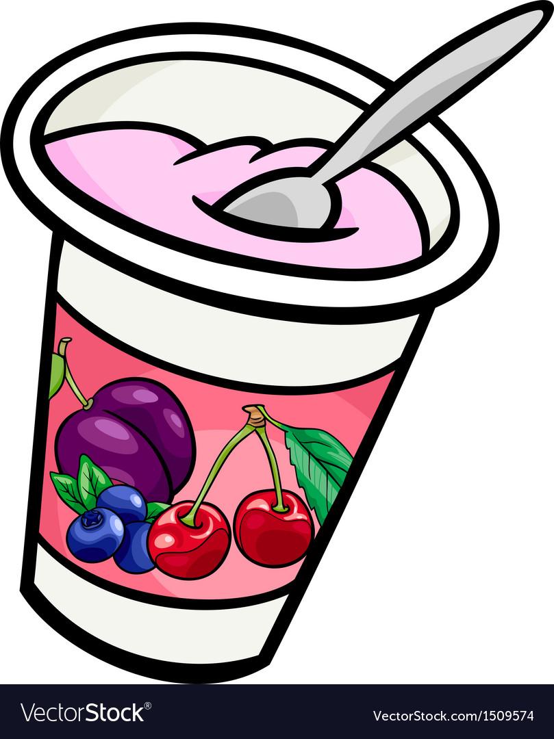 Yogurt clip art cartoon.