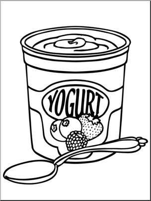 Clip Art: Yogurt B&W I abcteach.com.