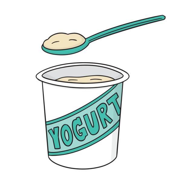 Best Plain Yogurt Illustrations, Royalty.