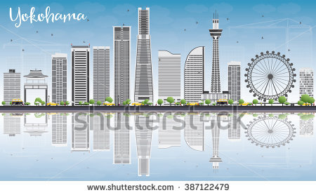 Yokohama Skyline Stock Vectors & Vector Clip Art.