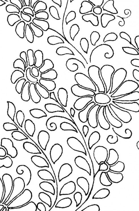 Mexican Floral Yoke Embroidery Pattern.