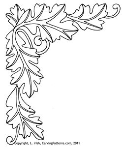 Wood Burning Border Patterns Clipart.