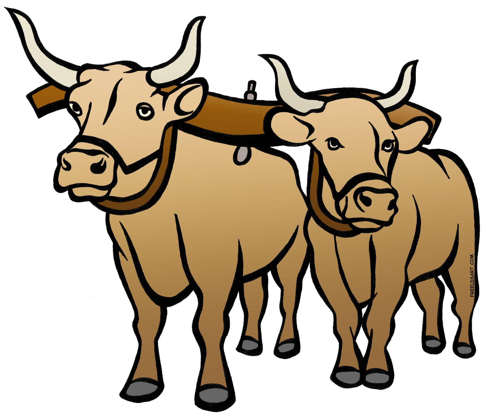 Yoke of oxen clipart.
