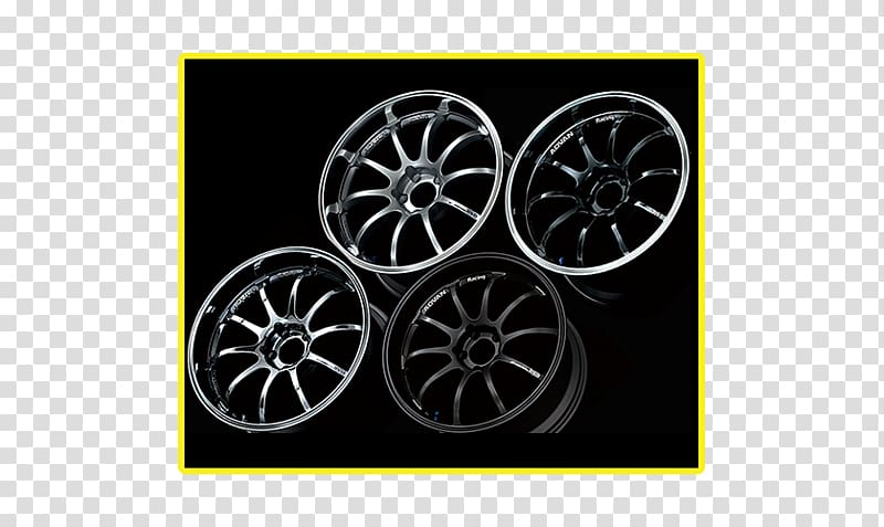Alloy wheel Car ADVAN Yokohama Rubber Company Spoke, car.