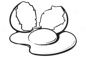 Yolk clipart black and white 1 » Clipart Station.