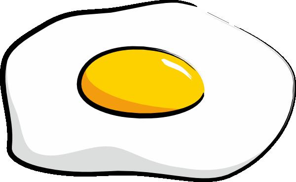 Brown Broken Egg With Flowing Yolk Stock Vector ... |Yolk Drawing