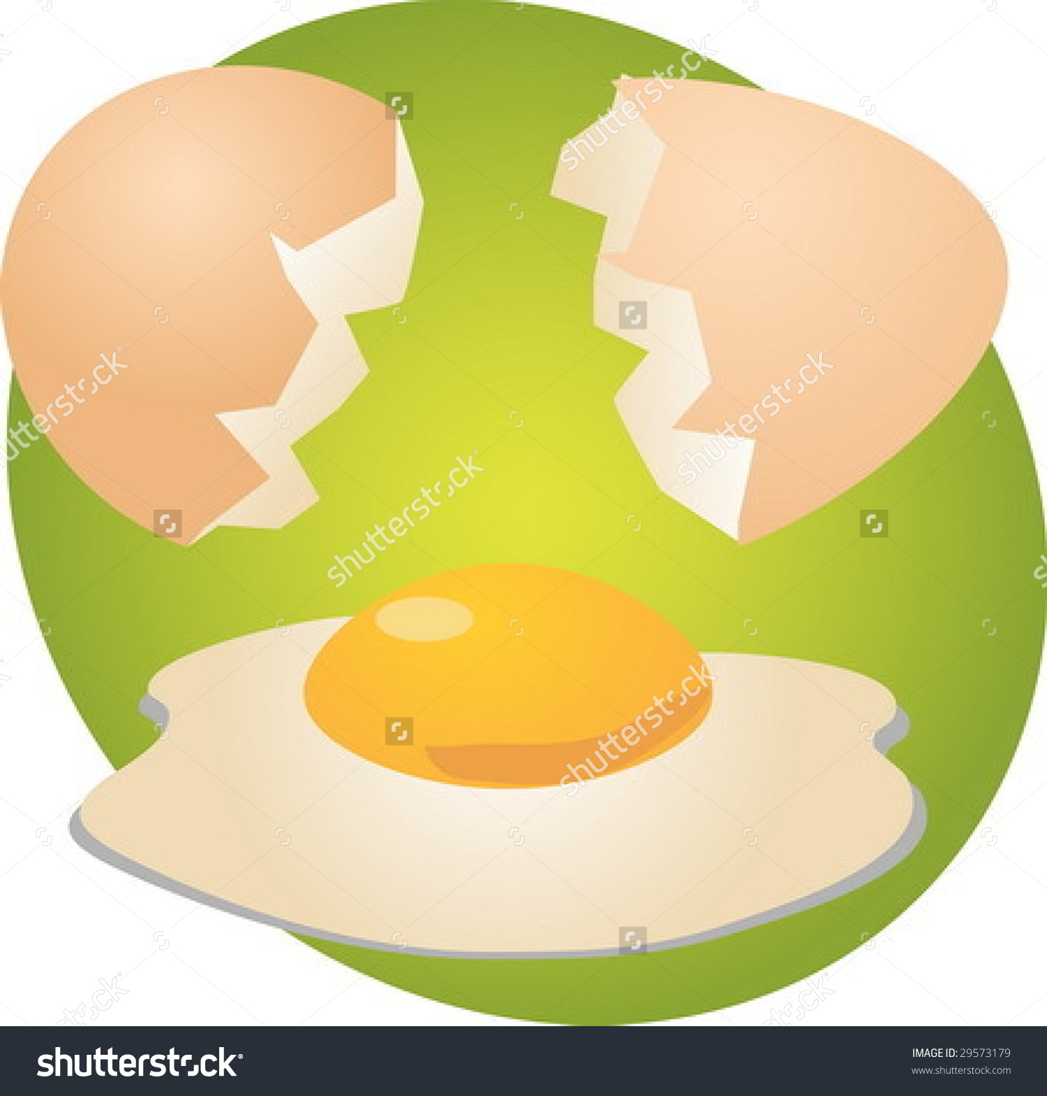 Egg Illustration Clipart Open Shell Yolk Stock Vector 29573179.