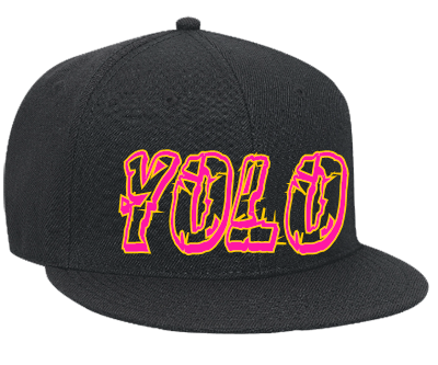 Download Free png yolo Snapback Flat Bill Hat.