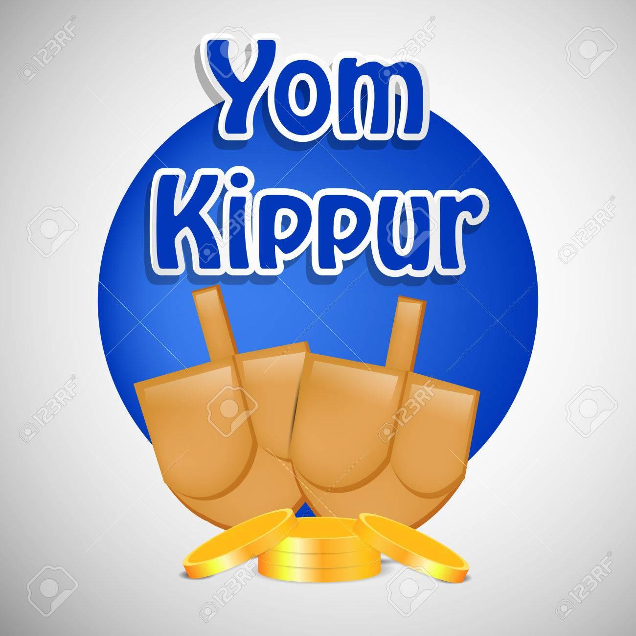 Illustration of elements jewish yom kippur background.
