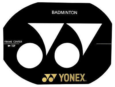Yonex Logo Badminton Racquet Racket String Stencil.