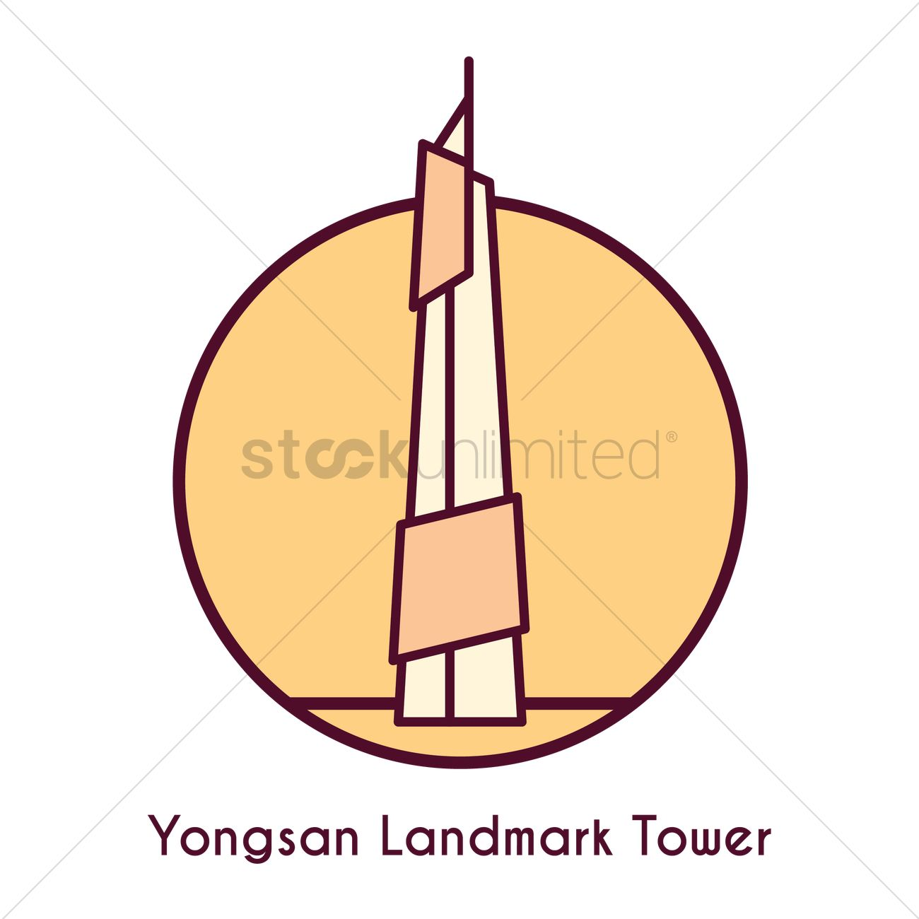Yongsan landmark tower Vector Image.