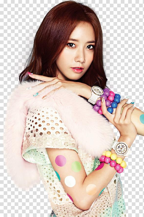 Yoona SNSD Casio render, woman wearing white top transparent.