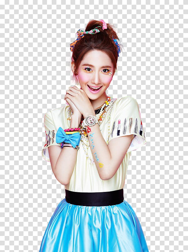 YoonA SNSD Casio ba, smiling woman standing illustration transparent.