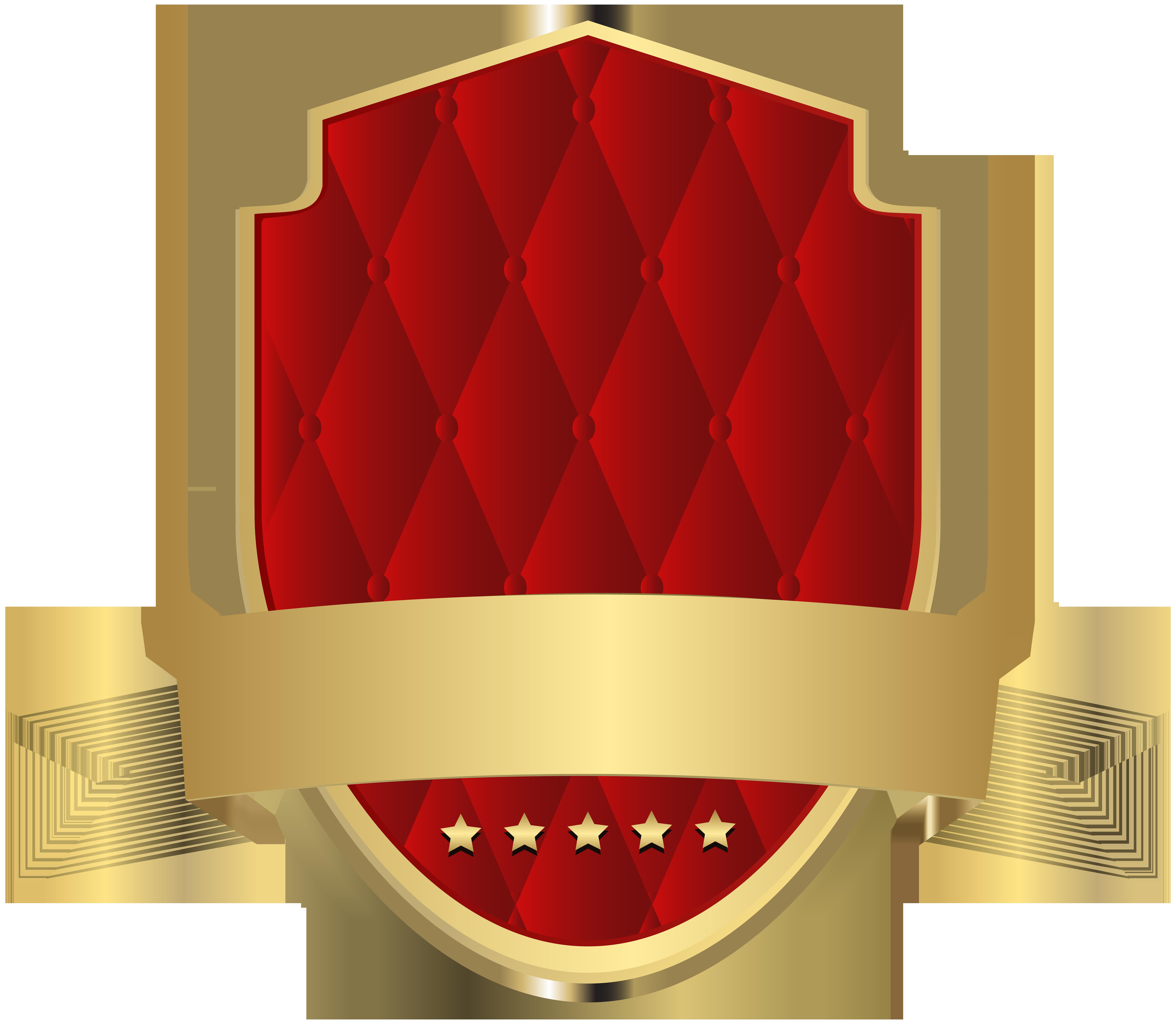 Elegant Label Template Red Clip Art PNG Image.