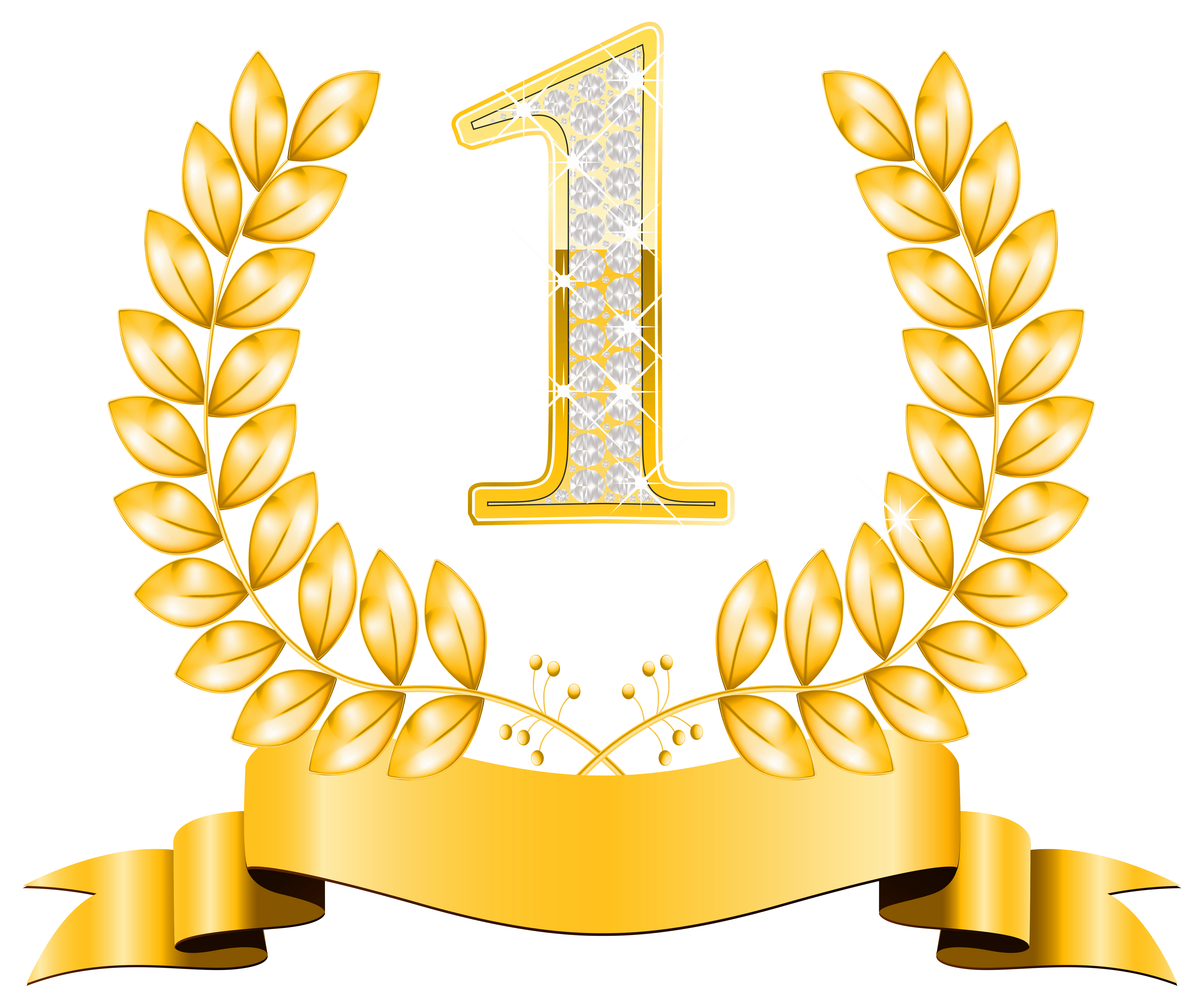 First Place PNG Clipart Image.
