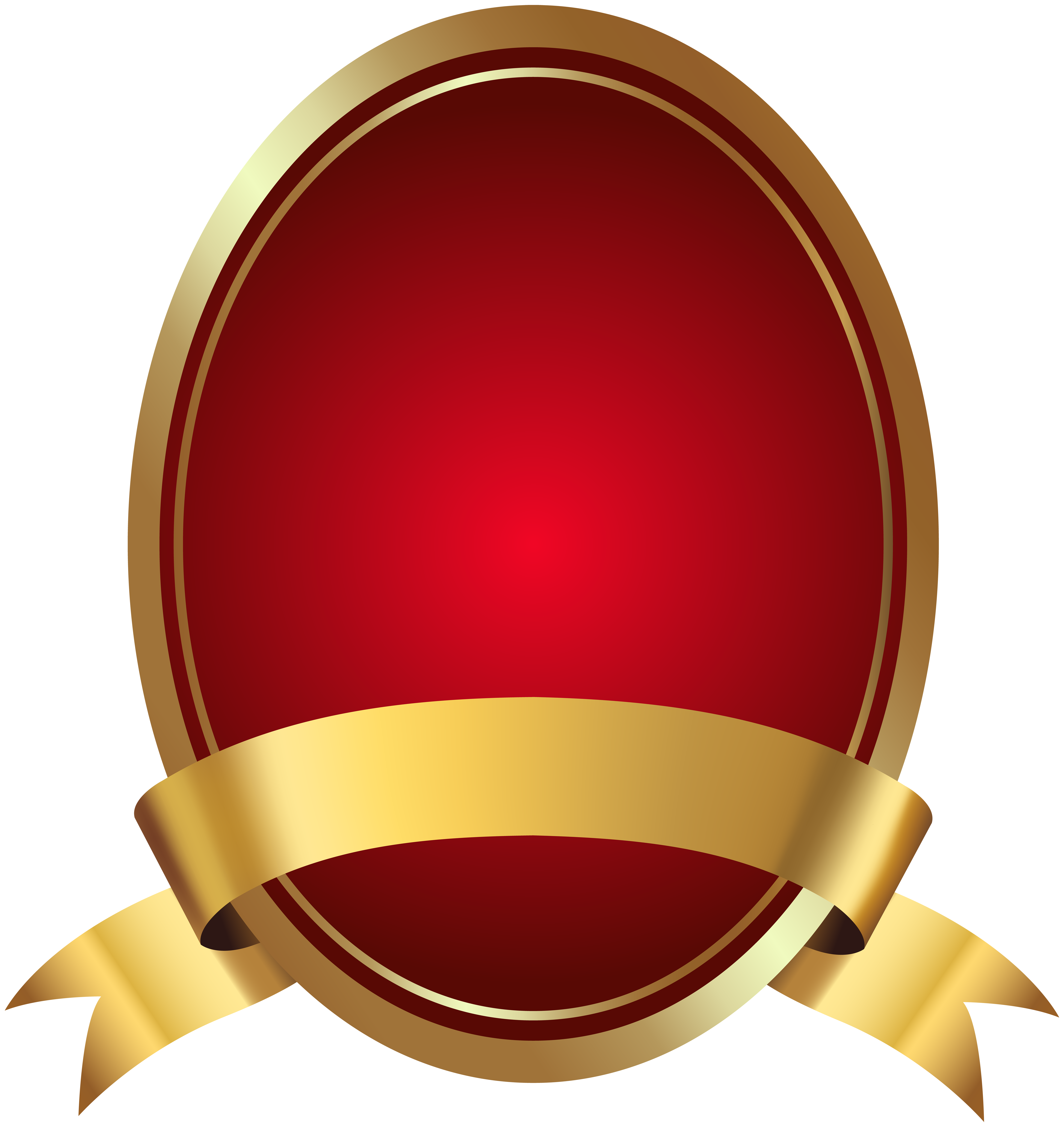 Red Label with Banner PNG Clip Art Image.