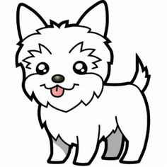 Free Yorkie Clipart Black And White, Download Free Clip Art.