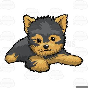 Yorkie Puppy Clipart.