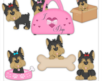 Yorkie clipart - Clipground