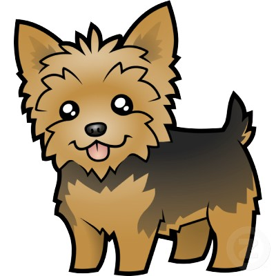 Yorkie clipart free.