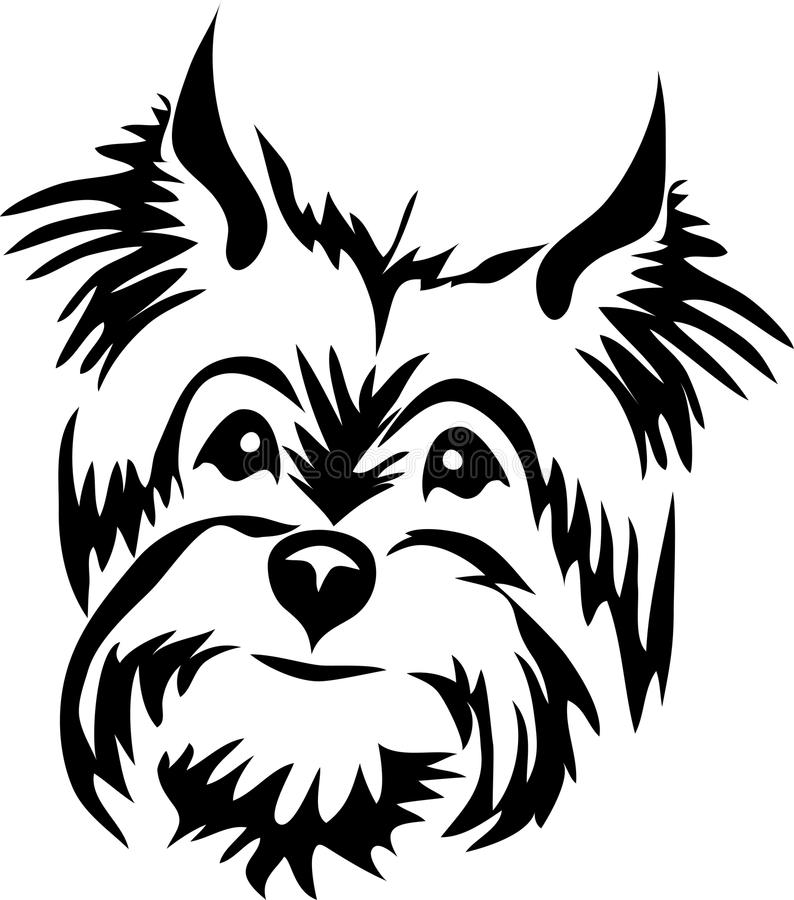 Yorkie clipart black and white 8 » Clipart Station.