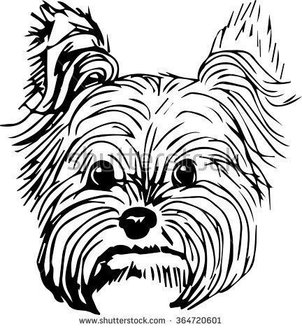 Yorkie clipart black and white 7 » Clipart Station.
