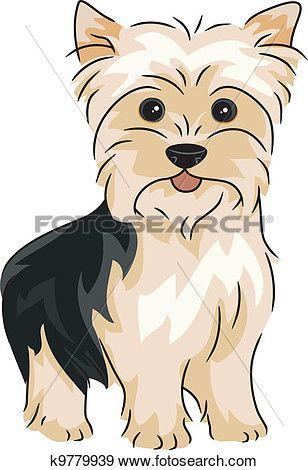 Yorkshire Terrier Clip Art.