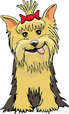 Yorkie Dog Clipart.