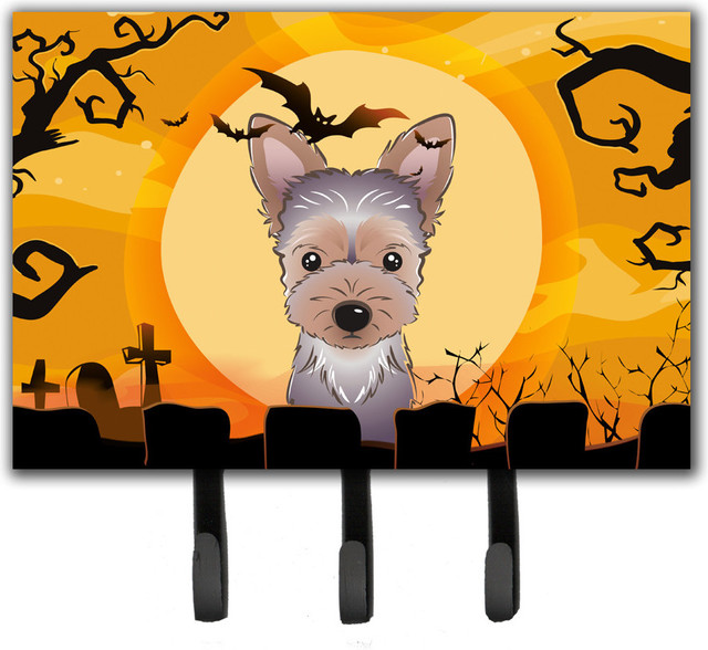 Halloween Yorkie Puppy Leash/Key Holder.