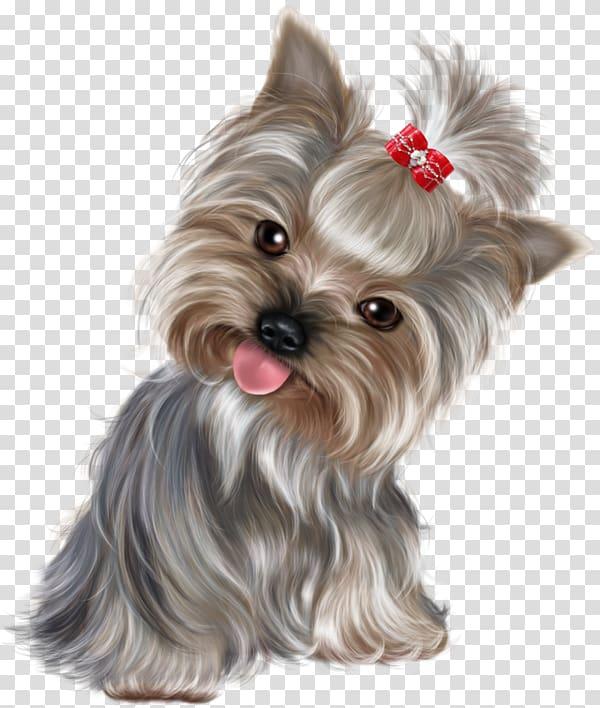 Black and tan Yorkshire terrier digital painting, Yorkshire Terrier.