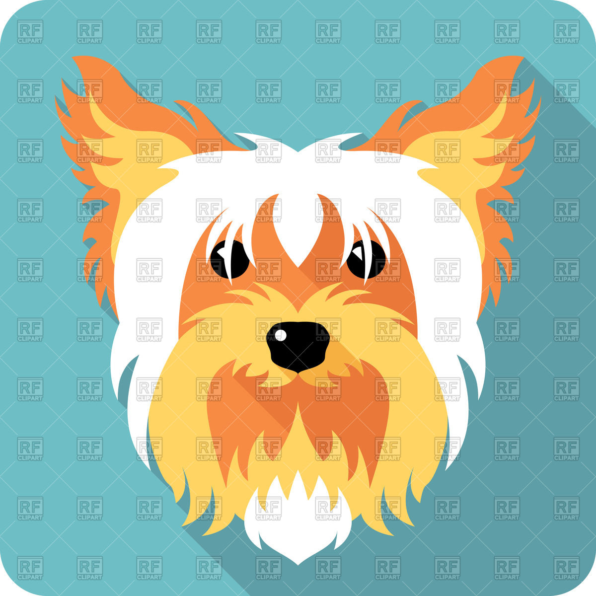 Icon of Yorkshire terrier in flat style Vector Image #44002.