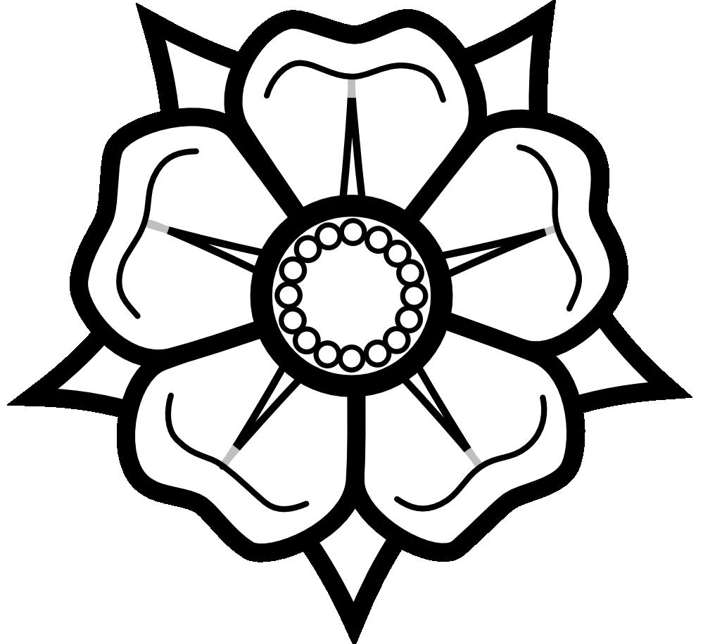Panda clipart yorkshire rose, Panda yorkshire rose.