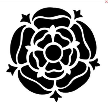 Yorkshire Rose Silhouette.