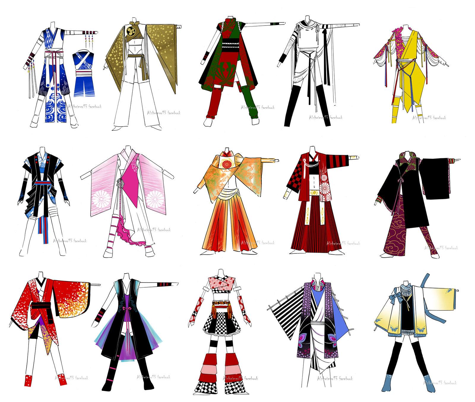 Yosakoi outfits design.