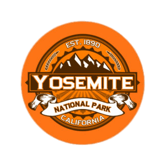Yosemite National Park Sticker transparent PNG.