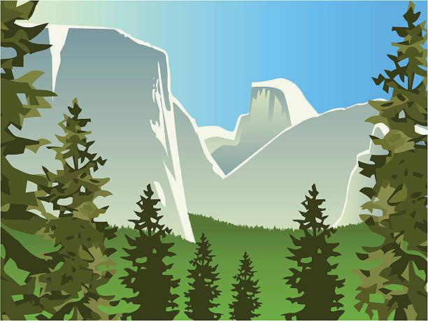 Best Yosemite National Park Illustrations, Royalty.