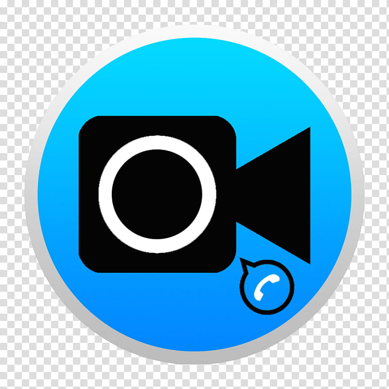 Black And Colorful Yosemite Style Icons, Blue FaceTim W: BG.